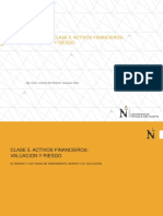 Unidad III Tema 5 Valuacion de Activos Financieros, El Riesgo y La Tasa de Interes