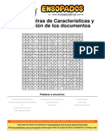 Sopa de Letras de Características y Clasificación de Los Documentos