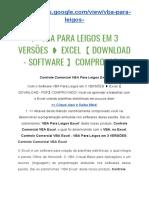 Vba Para Leigos Em 3 Versoes Excel Download - Software Comprovado