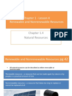 Chapter 1 Lesson 4 a Renewable and Nonrenewable Resources