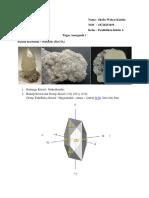 Kristal Whiterite-Calcite Anorganik