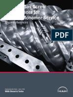 Screw gas Compressor for SM Production