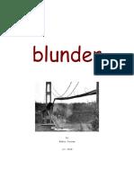 Blunder - un-finished fiction by Eddie Corona