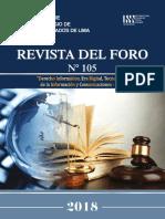 Revista del Foro 105-2018 (Versión Digital)