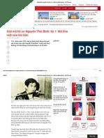 Giải Mã Hồ Sơ Nguyễn Thái Bình - Tuổi Trẻ