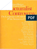 Macksey Richard Donato Eugenio Eds the Structuralist Controversy the Languages of Criticism and the Sciences of Man