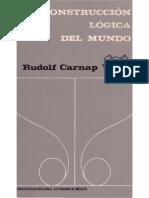 Rudolf Carnap La Construccion Logica Del Mundo UNAM 1988 1 PDF