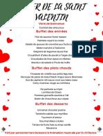 Menu St Valentin 2019 au Relais de l'Hermitage