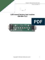 Procédure de test de l'afficheur LED EB004