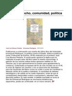ESTADO, DERECHO, COMUNIDAD, POLÍTICA