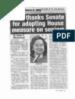 Peoples Journal Feb. 6, 2019, GMA thanks Senate for adoptimg House measure on seniors.pdf