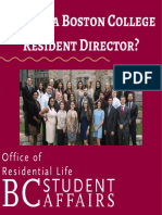 why be a boston college resident director - 2018