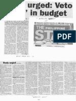 Philippine Star, Feb. 6, 2019, Rody urged Veto pork in budget.pdf