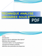Technique Analyse Univariee