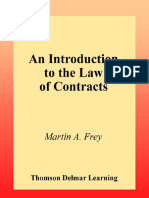 (Paralegal) Martin a. Frey, Terry H. Bitting, Phyllis Hurley Frey-An Introduction to the Law of Contracts-West Legal Studies (2000)