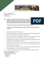 Complaint of Unlawful Discrimination by Australian Judiciary