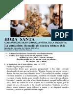 La Comunión, Remedio de Nuestra Tristeza (62) HORA SANTA Con San Pedro Julián Eymard.