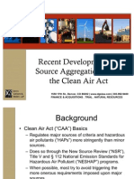 Presentation on Recent Developments in Source Aggregation Under the Clean Air Act