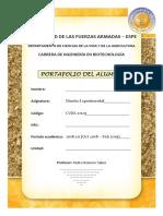 Carátula Portafolio Alumno, DoE