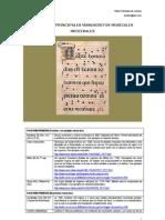Principales Manuscritos de Música de la Edad Media