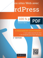 (100 % Pratique !_ 100% Pratique.) Kern, Simon - Sites Web Avec WordPress-Dunod (2015)