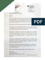 Carta de l'Escola Cabra del Camp