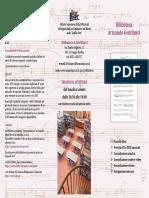Opuscolo Biblioteca Musicale Gentilucci (Reggio Emilia, Italy)
