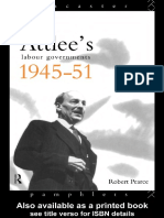 Robert Pearce- Atlee's Labour Governments 1945-51 (Lancaster Pamphlets)