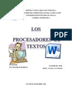 Ensayo Procesadores de texto