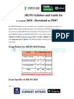 Complete SBI PO Syllabus and Guide for Prelims 2018 Download as PDF