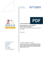 UM MM09 Service Entry Sheet