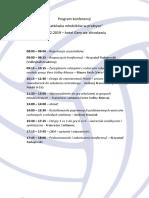 Program Konferencji Wrocław