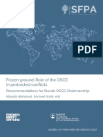 Frozen Ground Role of the OSCE in Protracted Conflicts PDF