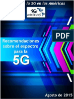 4G Americas 5G Spectrum Recommendations White Paper - Spanish
