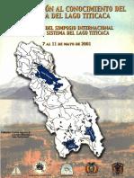 Contribucion Al Conocimiento Del Sistema Del Lago Titicaca