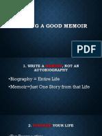 Writing a Good Memoir