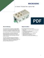 Gigabit Ethernet Micro Switch Twisted Pair Uplink PoE