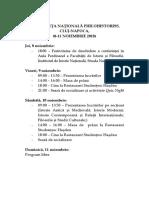 Program Conferinta 2018