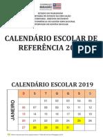 Calendário Escolar 2019 1