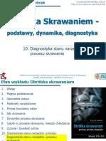 Obróbka Skrawaniem 10 Diagnostyka Stanu Narzędzia i Procesu Skrawania
