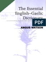 Essential Scottish Gaelic Dictionary