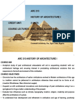 ARC 213 History of Architecture Lecture Notes