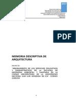 Memoria Arquitectura