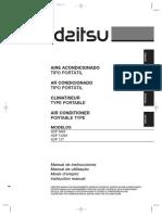 DAITSU Manuale Utente Climatizzatore Portatile APD9 12CR APD12HR
