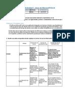 MII U1 Actividad 1 Usos de Microsoft Excel