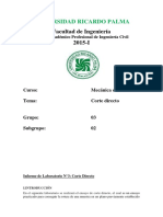 Informe de Laboratorio n3 Corte Directo
