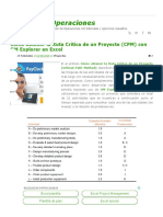 Cómo Obtener La Ruta Crítica de Un Proyecto (CPM) Con OM Explorer en Excel