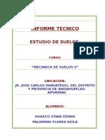 INFORME TÉCNICO DE ESTUDIO DE SUELOS