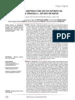 CICATRIZAÇÃO GÁSTRICA COM USO DO EXTRATO DA EUPHORBIA TIRUCALLI L.-