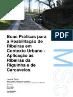 Boas Práticas para a Reabilitação de Ribeiras em Contexto Urbano - Aplicação às Ribeiras da Riguinha e de Carcavelos